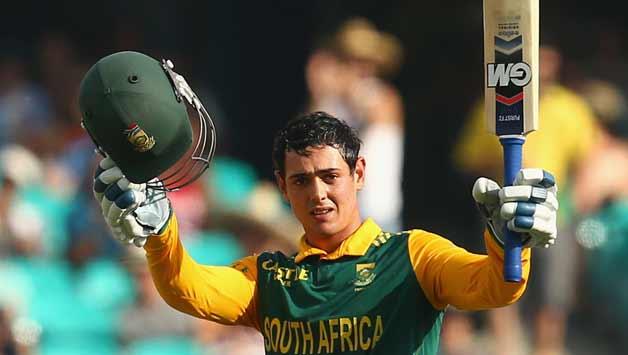 Quinton de Kock of South Africa celebrates scoring his century4