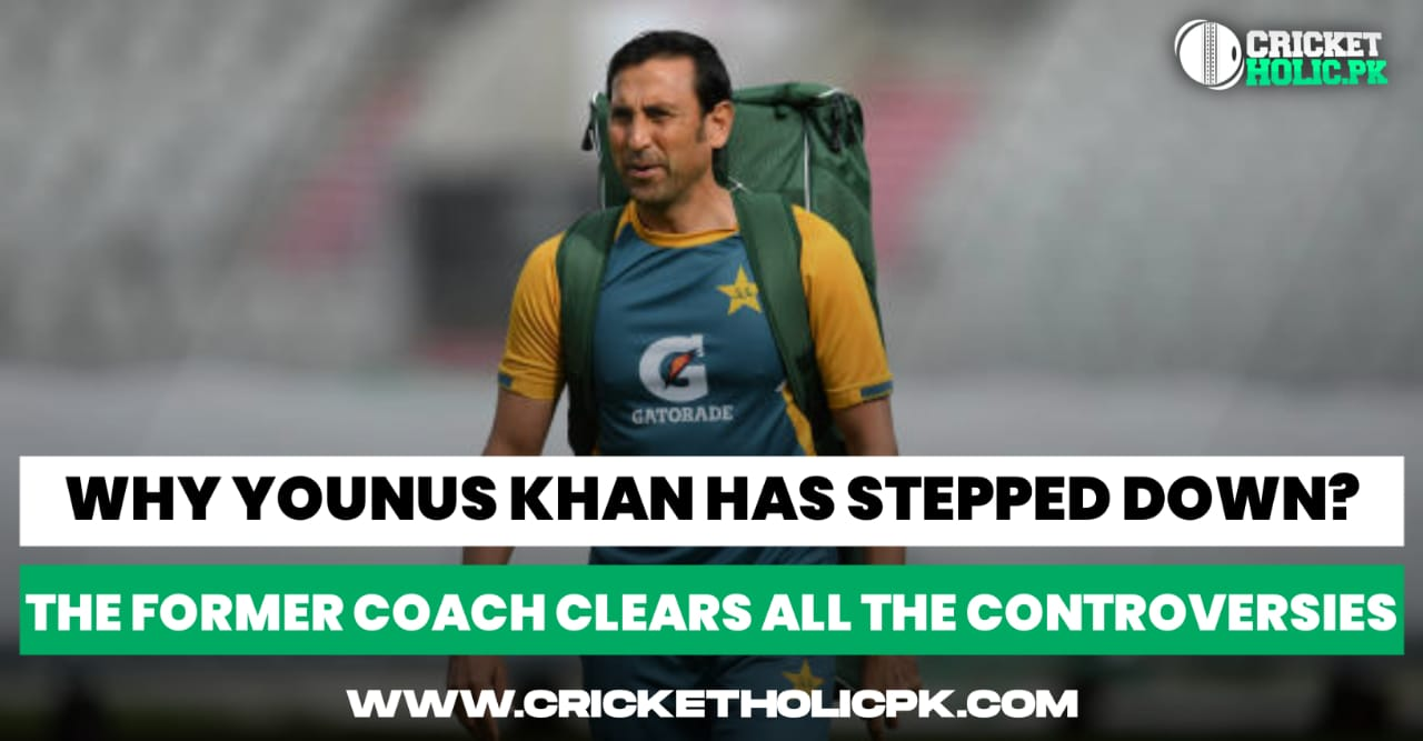 Why has Younis Khan stepped down?