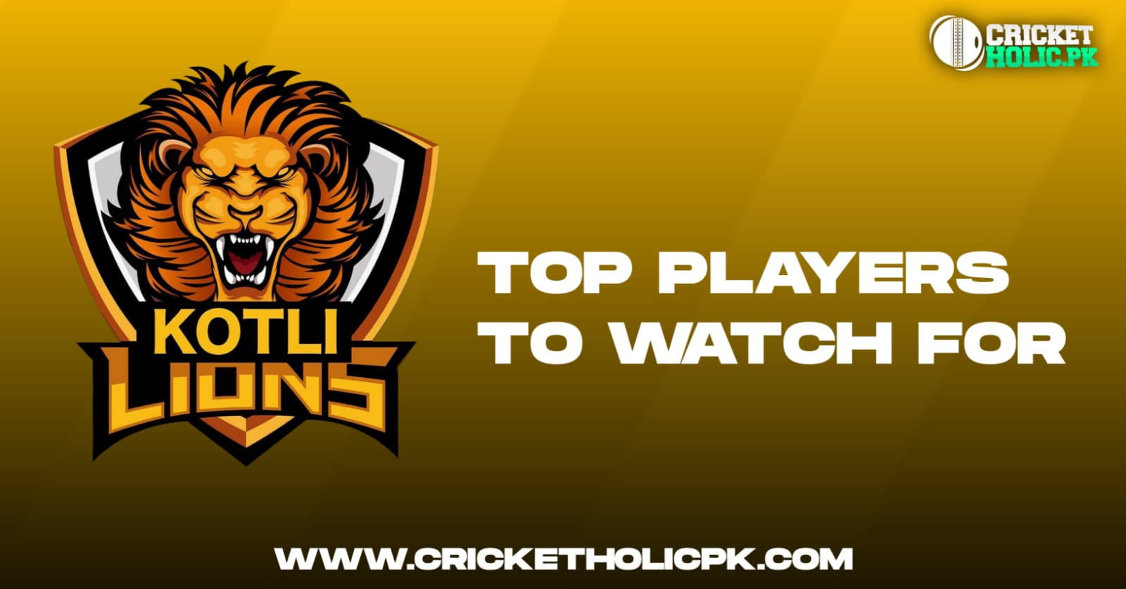 Kotli Lions' top players to watch for in KPL 2021